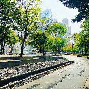 元旦の天気は快晴(公益路 勤美誠品綠園道)